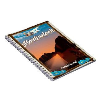 Martinsloch Switzerland travel poster Notebooks