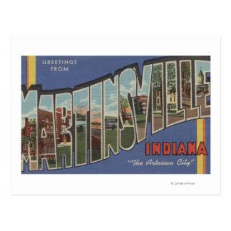 Martinsville, Indiana - Large Letter Scenes Postcard