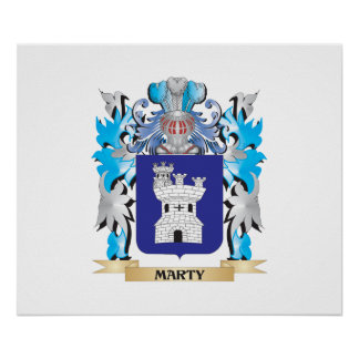 Marty Coat of Arms - Family Crest Poster