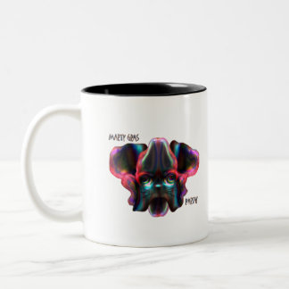 Marty goes to Mardi Gras Two-Tone Coffee Mug