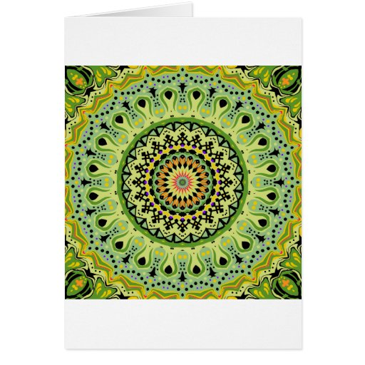 Marty Kaleidoscope Vintage Greens Cards