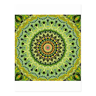 Marty Kaleidoscope Vintage Greens Post Cards