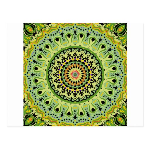 Marty Kaleidoscope Vintage Greens Postcards