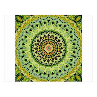 Marty Kaleidoscope Vintage Greens Postcards
