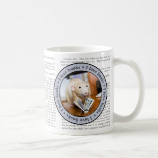 Marty Mouse Loves to Read MUG with text