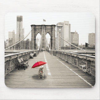 Marty Mouse on the Brooklyn Bridge Mouse Pad