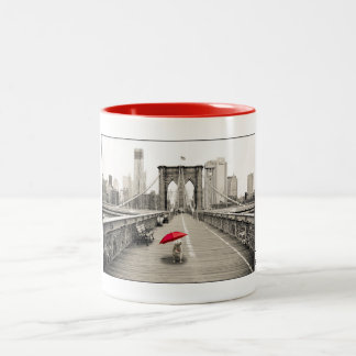 Marty Mouse on the Brooklyn Bridge Mug - Red