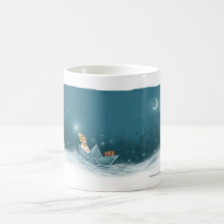 Marty Sails onto Adventure in his Imagination Basic White Mug