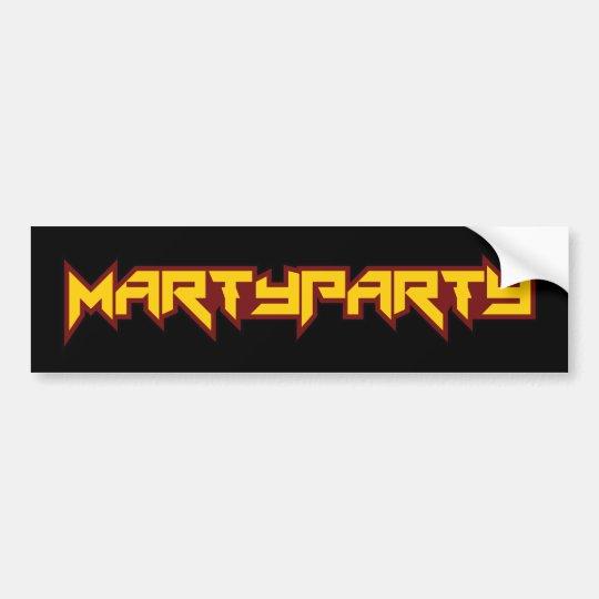 MARTyPARTy 2016 Bumper Sticker Black 2