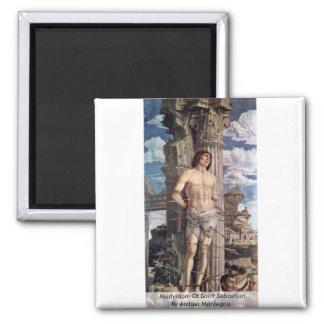 Martyrdom Of Saint Sebastian By Andrea Mantegna Magnet