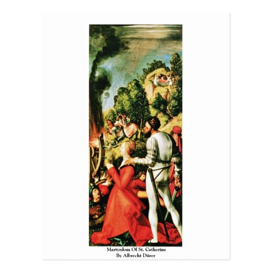 Martyrdom Of St. Catherine By Albrecht Dürer Postcard