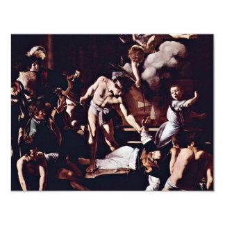"Martyrdom Of St. Matthew By Michelangelo Merisi Da 4.25"" X 5.5"" Invitation Card"