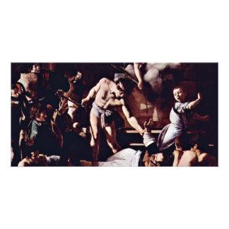 Martyrdom Of St. Matthew By Michelangelo Merisi Da Photo Greeting Card