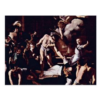 Martyrdom Of St. Matthew By Michelangelo Merisi Da Postcard