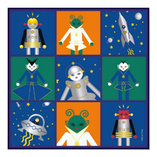 Martzkins In Outer Space Birthday Party Invitation