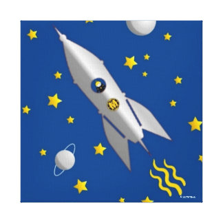 Martzkins In Outer Space Canvas Gallery Wrapped Canvas