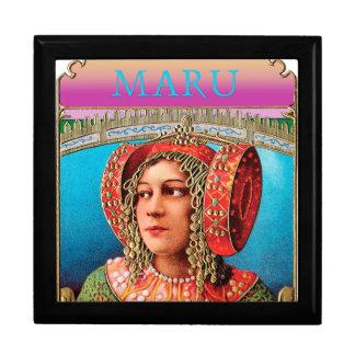 Maru Exotic Woman large Keepsake Box