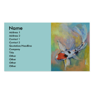 Maruten Butterfly Koi Pack Of Standard Business Cards