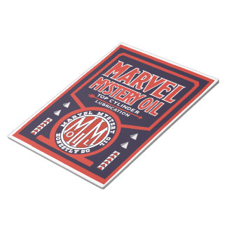 Marvel Mystery Oil vintage sign notepad Note Pads