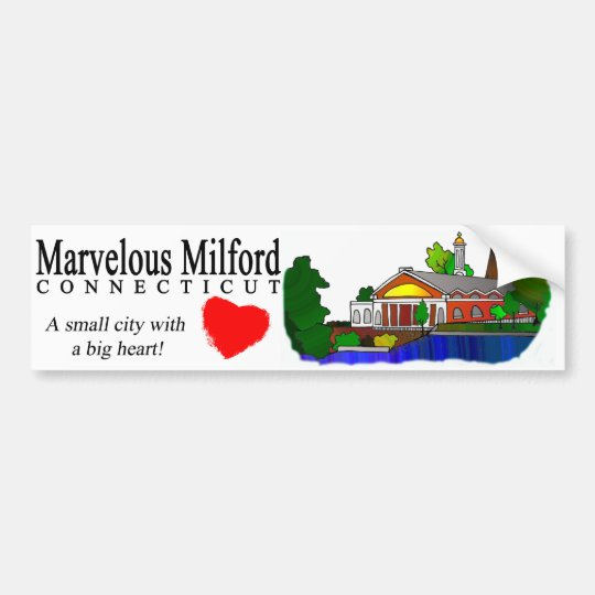 Marvellous Milford City Hall Bumper Sticker