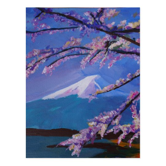 Marvellous Mount Fuji with Cherry Blossom in Japan Postcard