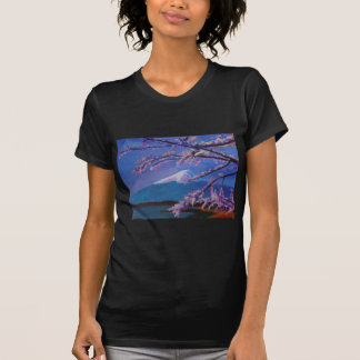Marvellous Mount Fuji with Cherry Blossom in Japan Shirts