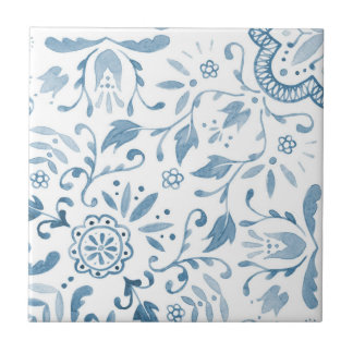 Marvellous Vintage Blue Pattern Ceramic Tile