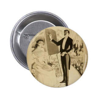 Marvelous Feats in Mind Reading Retro Theater Button