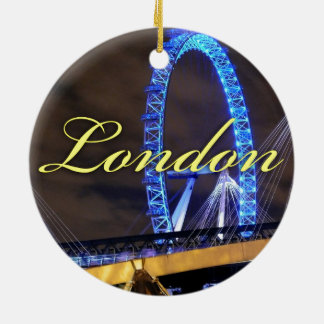 Marvelous Millennium Wheel London Round Ceramic Decoration
