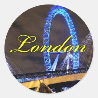 Marvelous Millennium Wheel London Round Sticker