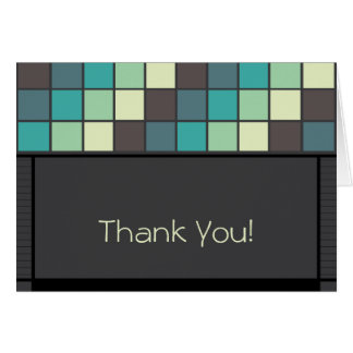 Marvelous Mosaic Tiled Thank You Card_5 Greeting Card
