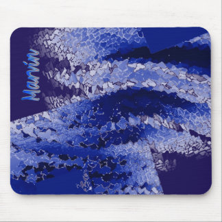 Marvin Blue and Black Mousepad