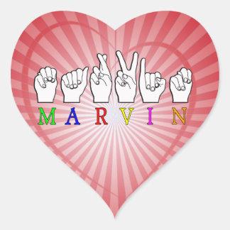 MARVIN   NAME ASL FINGER SPELLED STICKERS