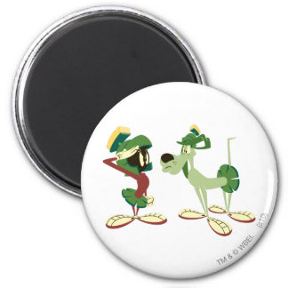 MARVIN THE MARTIAN™ and K-9 2 6 Cm Round Magnet