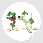 MARVIN THE MARTIAN™ and K-9 2 Round Sticker
