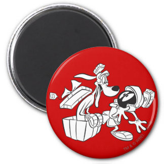 MARVIN THE MARTIAN™ and K-9 Gift Surprise 6 Cm Round Magnet
