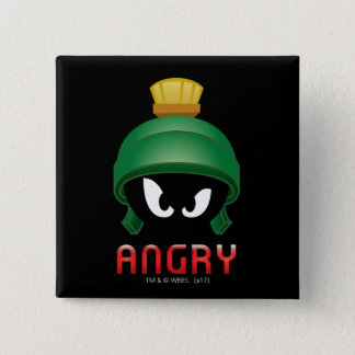 MARVIN THE MARTIAN™ Angry Emoji 15 Cm Square Badge