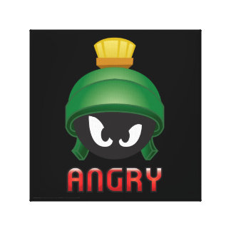 MARVIN THE MARTIAN™ Angry Emoji Canvas Print