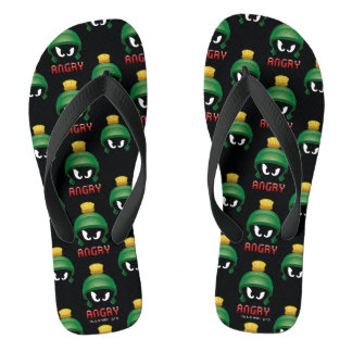 MARVIN THE MARTIAN™ Angry Emoji Flip Flops