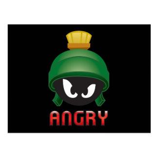 MARVIN THE MARTIAN™ Angry Emoji Postcard