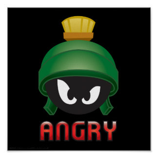 MARVIN THE MARTIAN™ Angry Emoji Poster