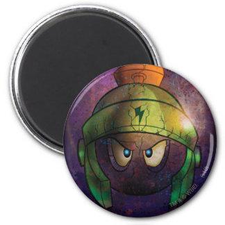 MARVIN THE MARTIAN™ Battle Hardened 6 Cm Round Magnet