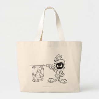 MARVIN THE MARTIAN™ Christmas Tree Pop Gun Large Tote Bag