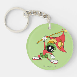 MARVIN THE MARTIAN™ Claiming Planet Double-Sided Round Acrylic Key Ring