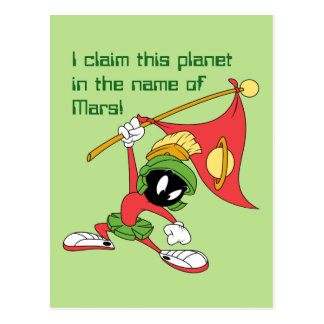 MARVIN THE MARTIAN™ Claiming Planet Postcard