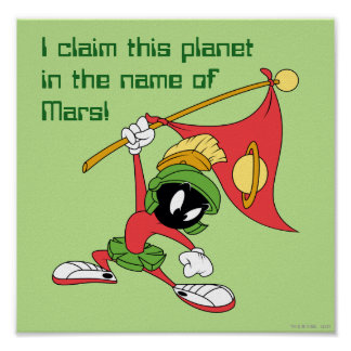 MARVIN THE MARTIAN™ Claiming Planet Poster