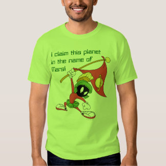 MARVIN THE MARTIAN™ Claiming Planet Tshirts