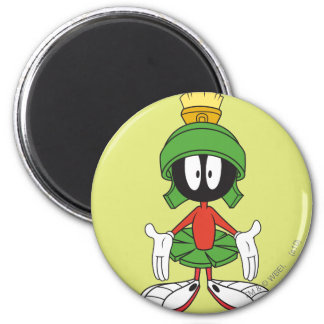 MARVIN THE MARTIAN™ Confused 6 Cm Round Magnet