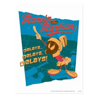MARVIN THE MARTIAN™ Delays...Delays...Delays! Postcard