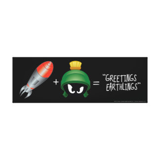 MARVIN THE MARTIAN™ Emoji Equation Canvas Print